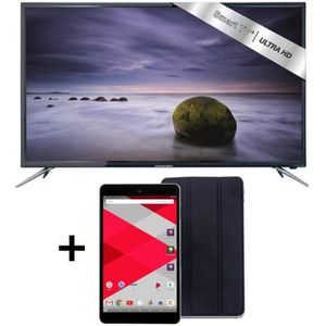 TV UHD 4K Smart Android 122cm (48??) + Tablette Cdisplay 8?? 32Go + Cover Cdisplay