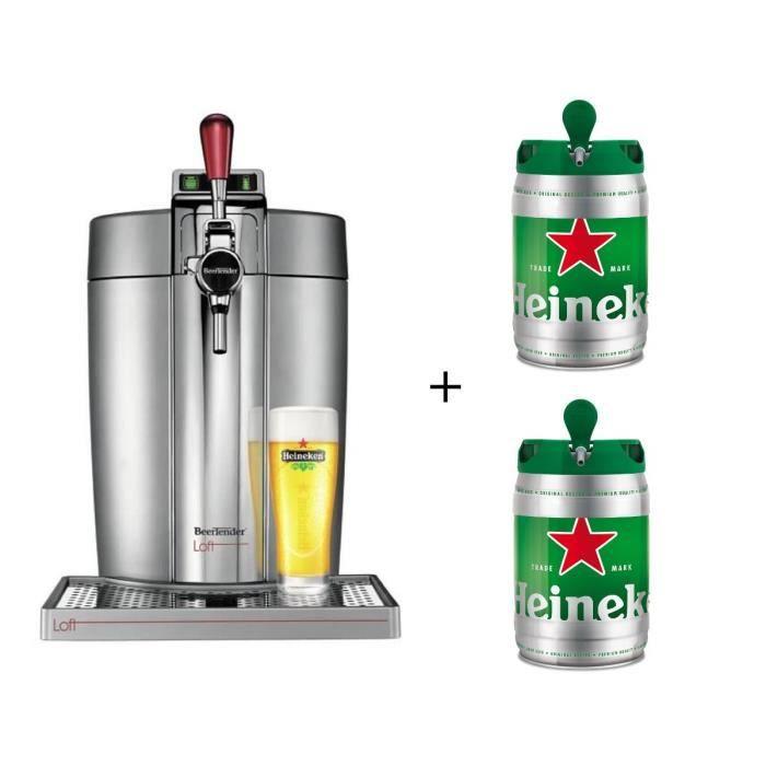 KRUPS VB700E00 Beertender Loft + 2 fûts Heineken 5L