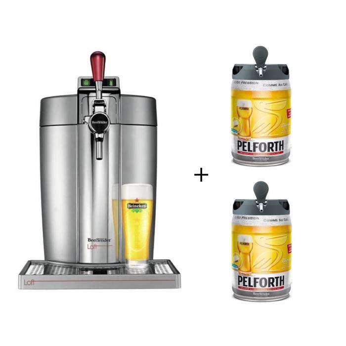 KRUPS VB700E00 - Beertender Loft + 2 fûts Pelforth