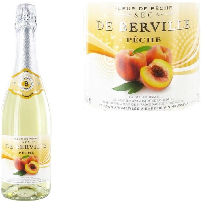 De Berville -Pêche- Boisson efferv. Aromatisée x1