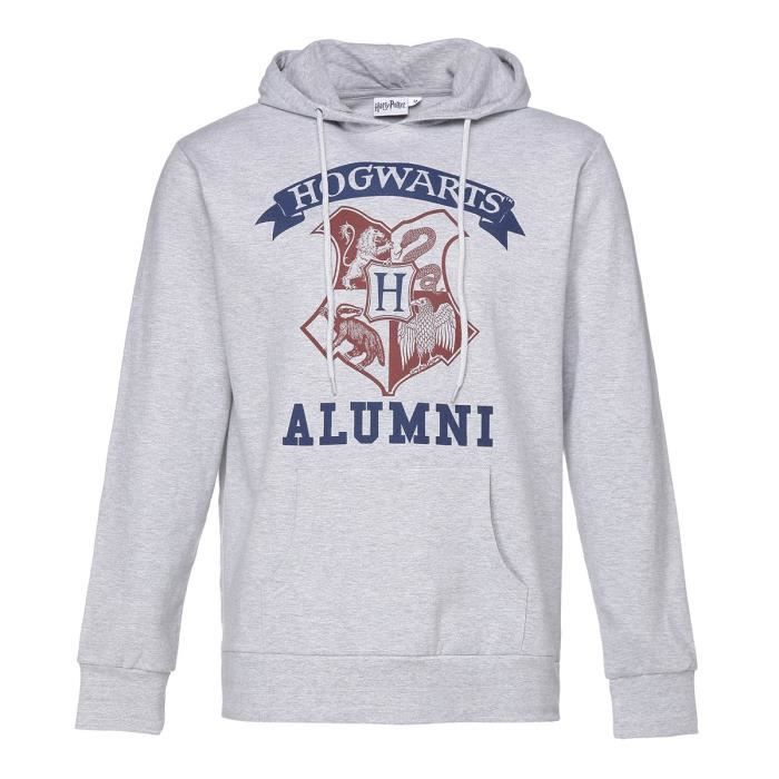 HARRY POTTER Sweat à capuche Gris chiné Homme