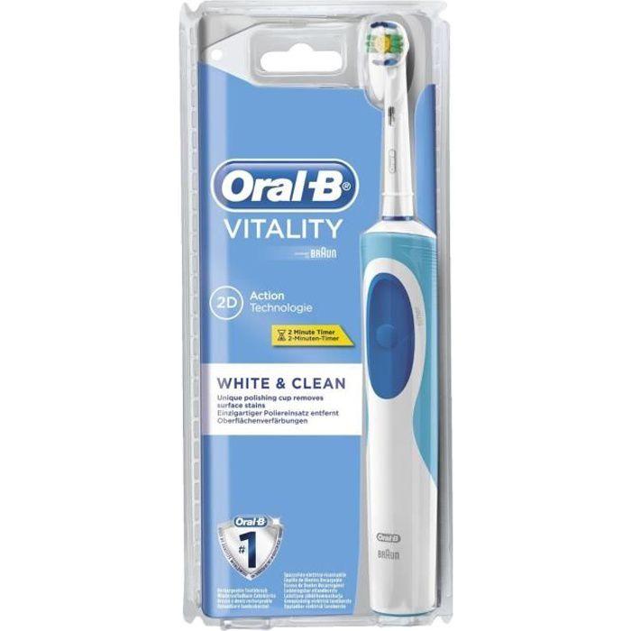 Oral-B Vitality Brosse à dents électrique White & Clean CLS