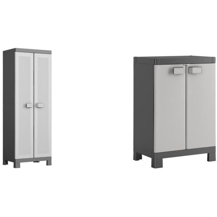 KIS Armoire haute + armoire basse Logico - 65 x 45 x 182 / 65 x 45 x 97 cm