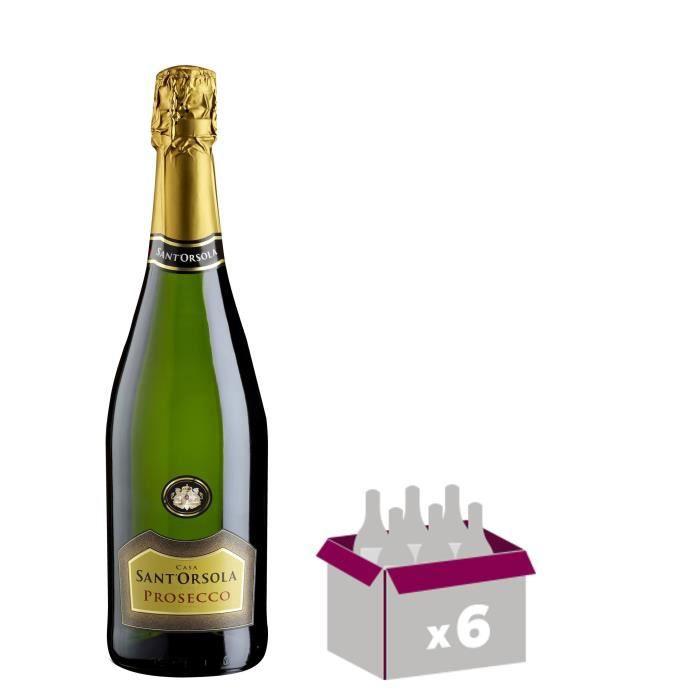 SANT ORSOLA Prosseco Vin d'Italie - Blanc - 75 cl x 6