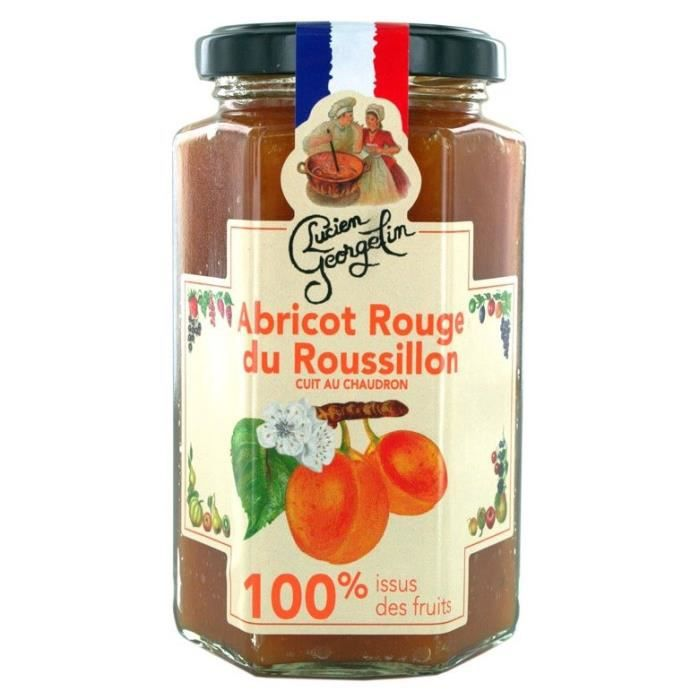 Confiture abricots 100% 300G Lucien Georgelin