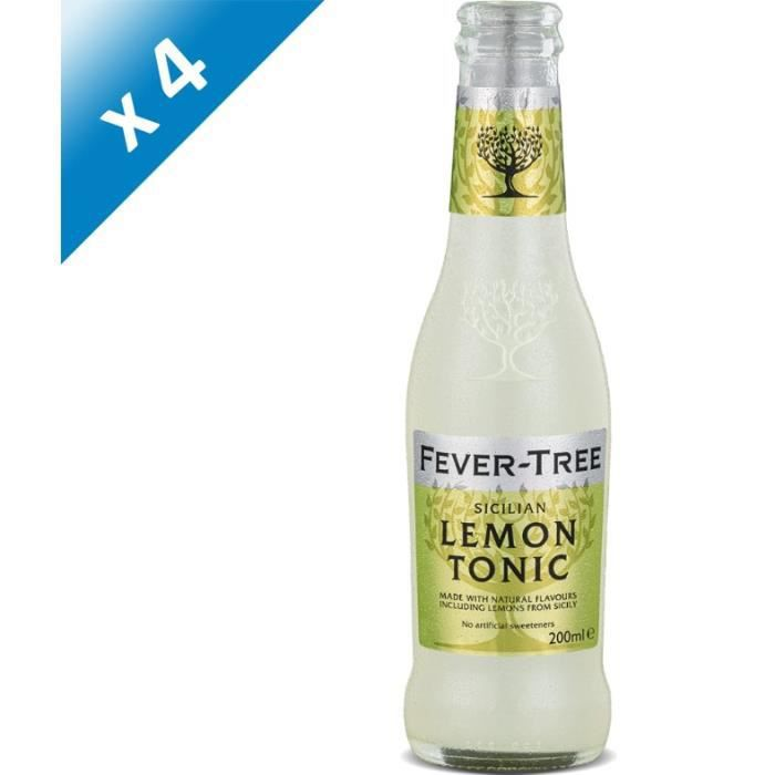 Fever-Tree - Sicilian Lemon Tonic - Sodas - 4 x 20 cl