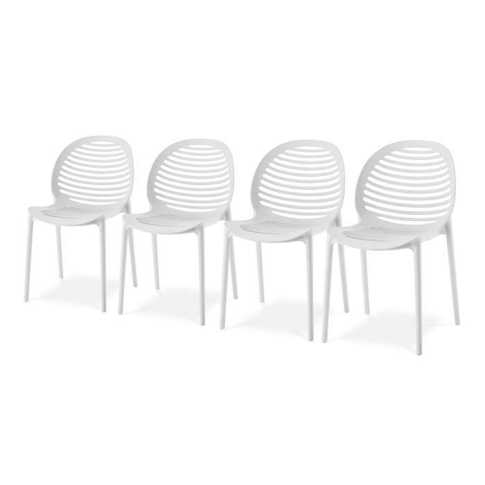 2x dossier haut Balcon mobilier salon de jardin camping set plastique table 79x79cm