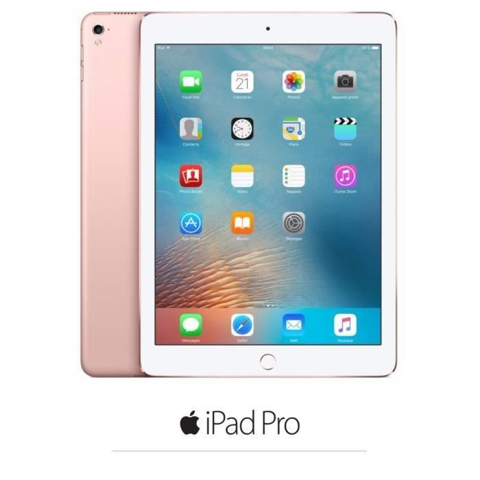 Apple Ipad Pro Cellulaire Mlym2nf/A 9.7'' Ios 9 A9x 64 bits Rom 256Go Wifi/Bluetooth/4G Rose Gold