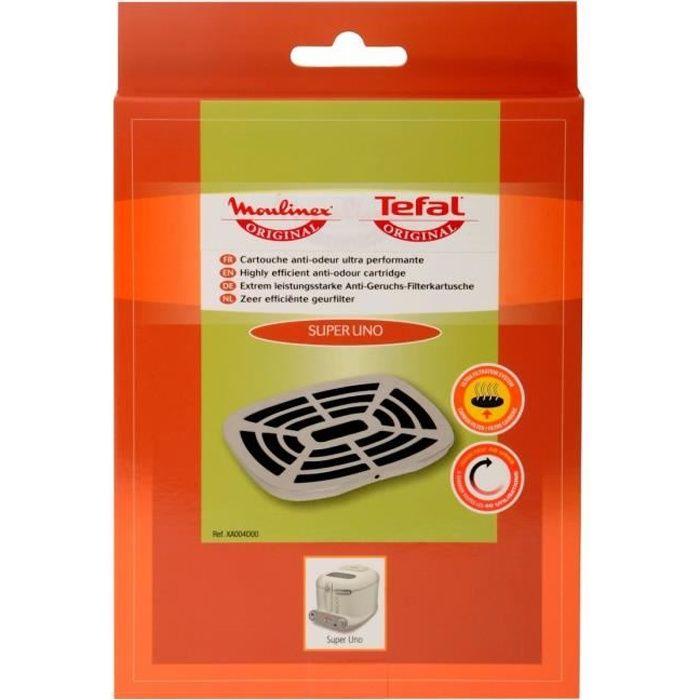 MOULINEX Accessoires XA004D00 Cartouche filtrante anti-odeur pour friteuse classique Super Uno