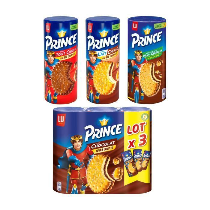 Lot de 3 paquets de biscuits Prince au blé complet goût Chocolat
