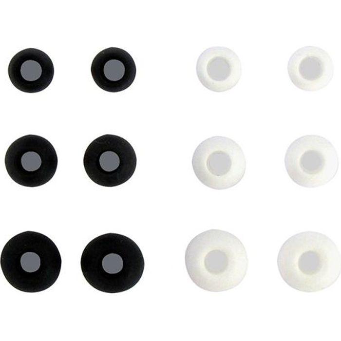 T'nB Embouts pour Ecouteurs Intra-auriculaires - 6 paires - Blanc et Noir