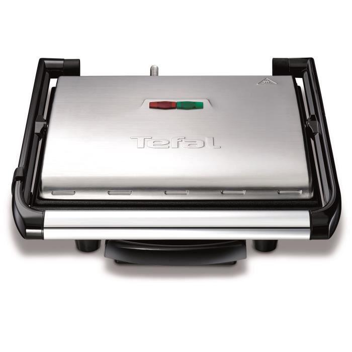 TEFAL Grille-viande électrique multifonctions Inicio Grill - GC241D12 - 2000 W - Inox