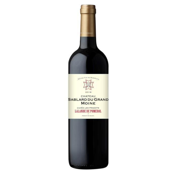 Château Sablard du Grand Moine Cuvée les Pradots 2018 Lalande-de-Pomerol - Vin rouge de Bordeaux x1