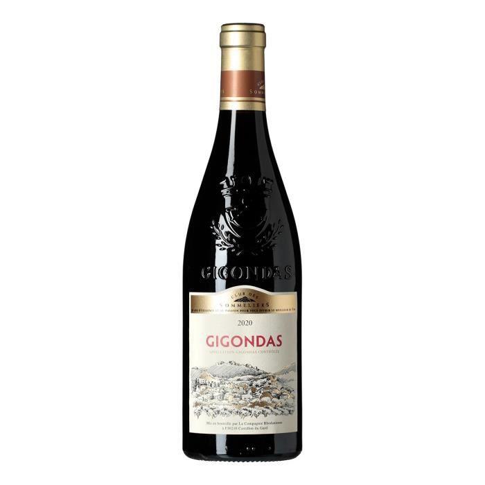 Club des Sommeliers 2019 Gigondas - Vin rouge de la Vallée du Rhône x1