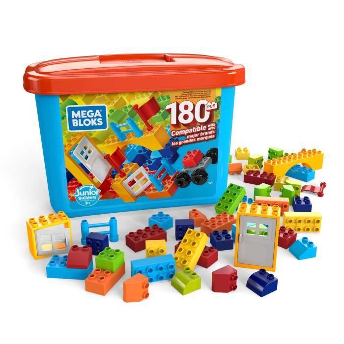 MEGA BLOKS Junior Builders Baril 180 blocs - 2 ans et +