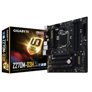 Gigabyte Carte m?re GA-Z270M-D3H - Socket LGA 1151 - DDR4 - 2400 Hz - 64 Go