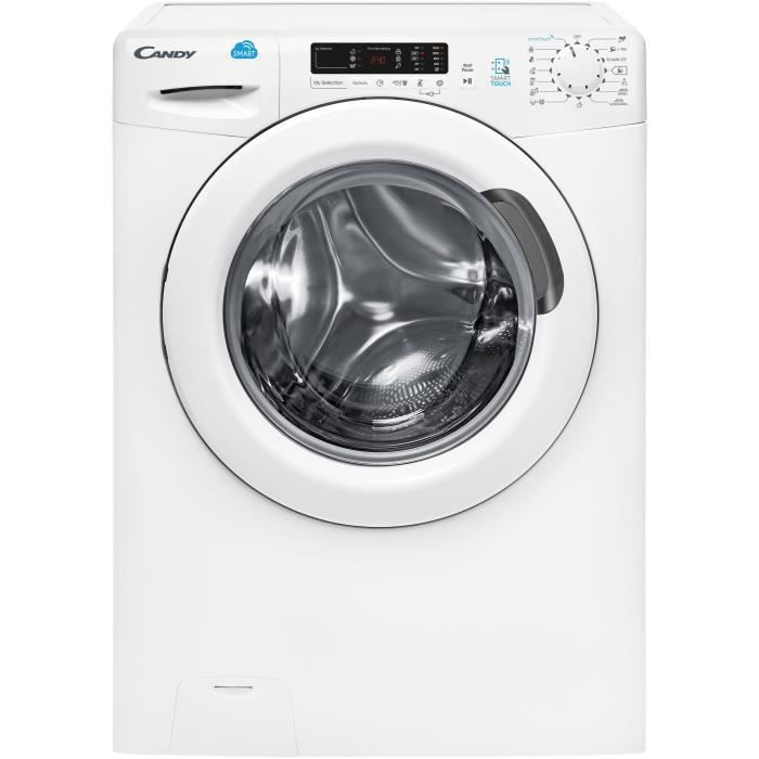 CANDY CS 1292D3-S  - Lave-linge frontal - 9kg - Essorage 1200 tours - A+++ - Connecté - Blanc