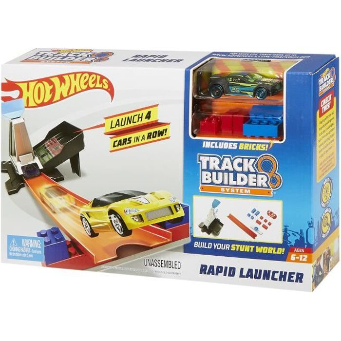 HOT WHEELS Track Builder Double Lanceur