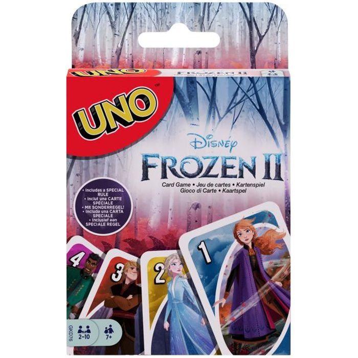 UNO La Reine des Neiges 2 Jeu de cartes - 2 à 10 joueurs - 7 ans et +