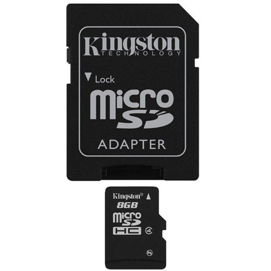 Kingston Microsd 8Gb + adaptateur Sd