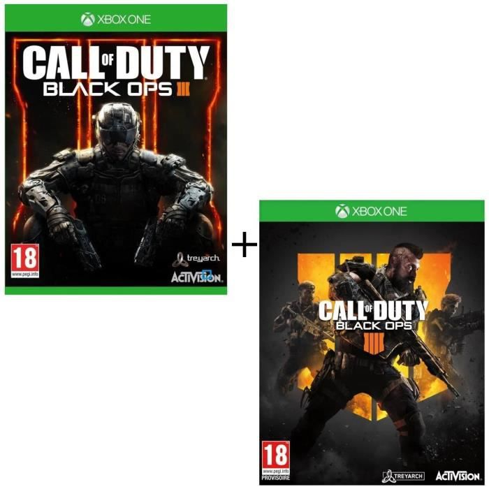 Pack 2 jeux Xbox One : Call Of Duty Black Ops 3 + Call of Duty Black OPS 4