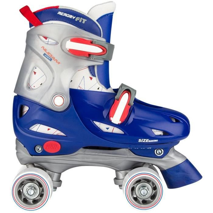 NIJDAM JUNIOR Rollers quad ajustables - Enfant - Bleu