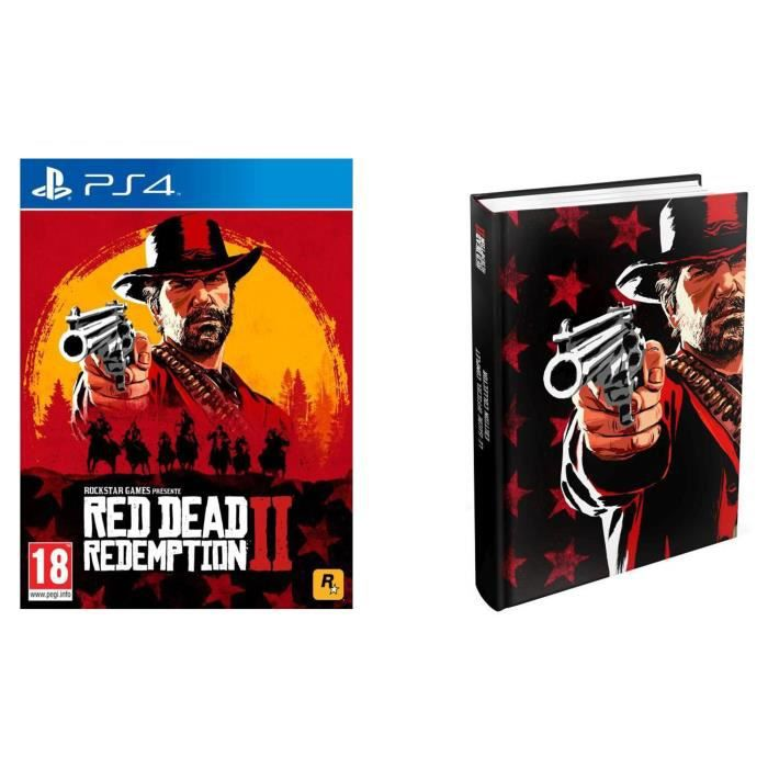 Red Dead Redemption 2 Jeu PS4 + Guide de jeu Edition Collector