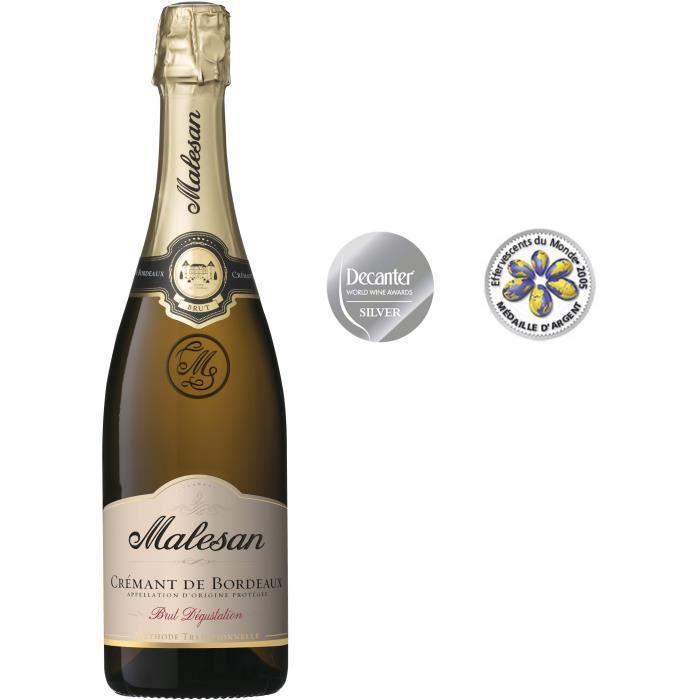 Malesan Crémant de Bordeaux - Vin brut dégustation