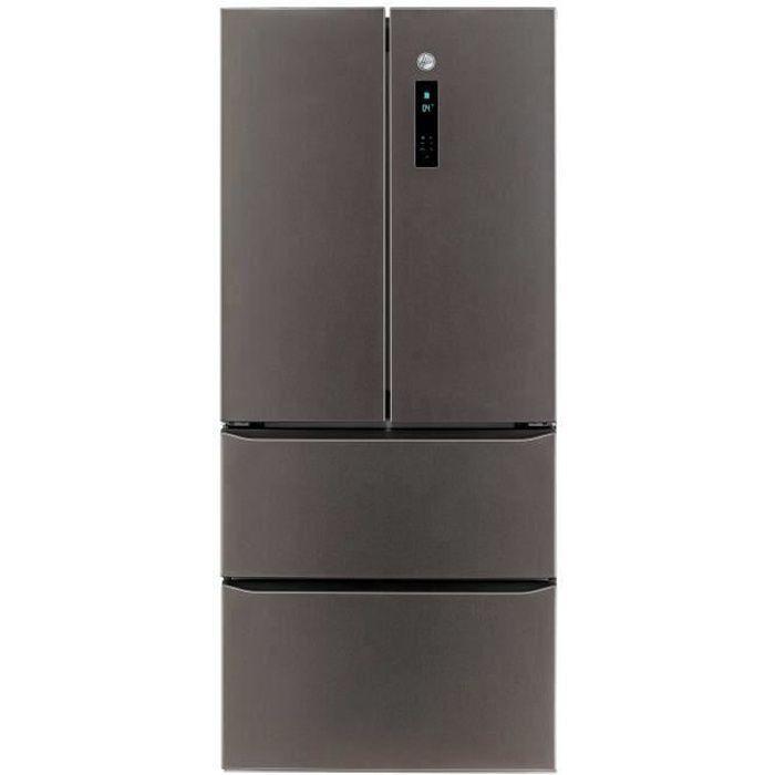 HOOVER HMDN182DEN - Réfrigérateur Multi-portes - 408l - Total No Frost - A++ - 79 cm x 182 cm - Inox