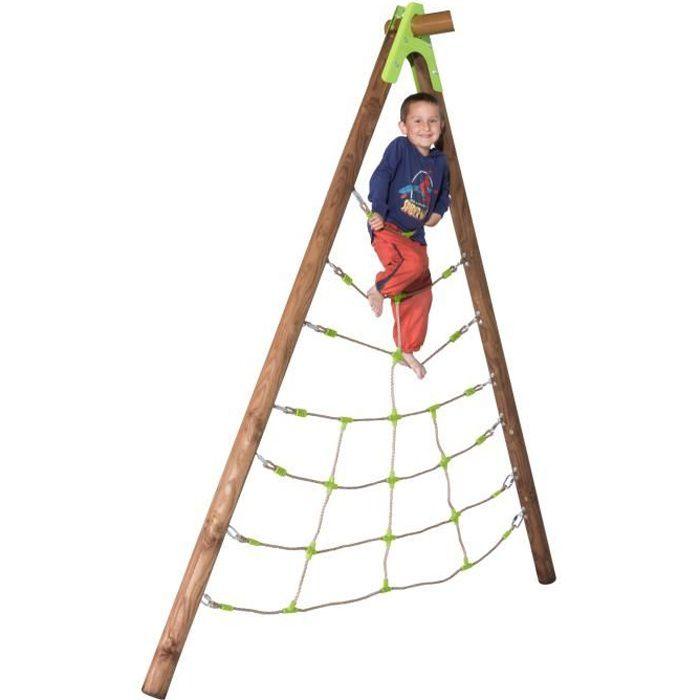 Filet d'escalade - pour portique pieds bois - 2,30 à 2,50m - SPIDER TRIGANO