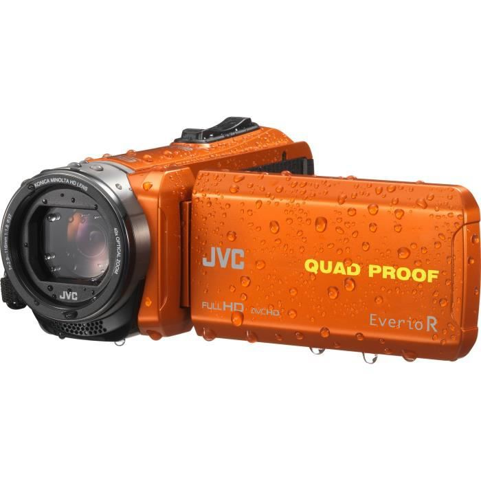 JVC GZ-R435B Camescope numérique Full HD Tout-terrain - Waterproof - Orange