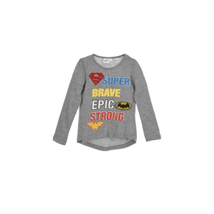 DC SUPER HERO GIRLS T-shirt Gris Anthracite Enfant Fille