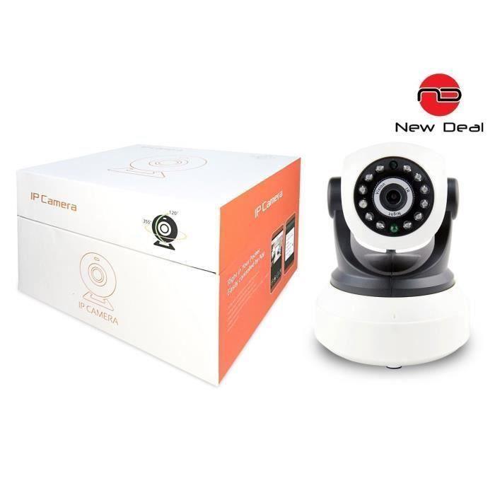 NEW DEAL Caméra de surveillance IP HD motorisée