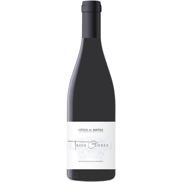 Domaine des Trois Cèdres 2018 Côtes du Rhône - Vin rouge de la Vallée du Rhône