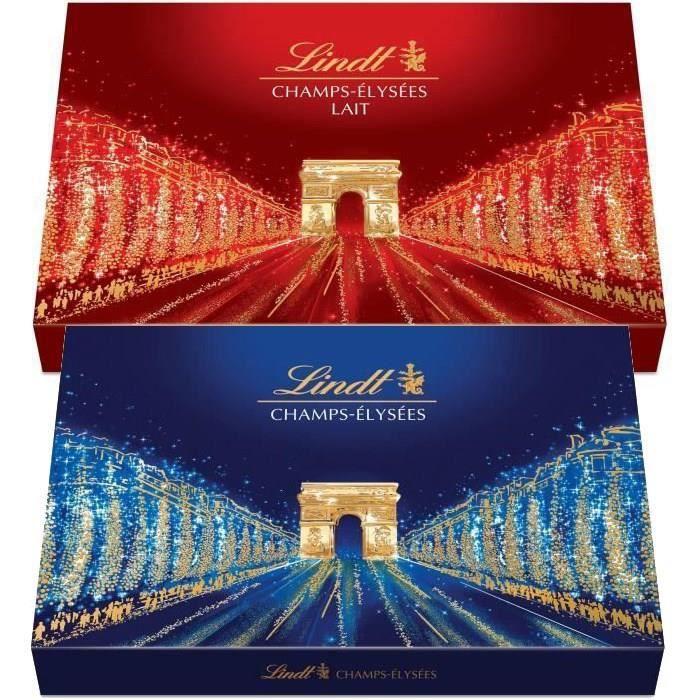 LINDT Lot de 2 boîtes Champs-Elysées Lait 482g et Assorti 469g