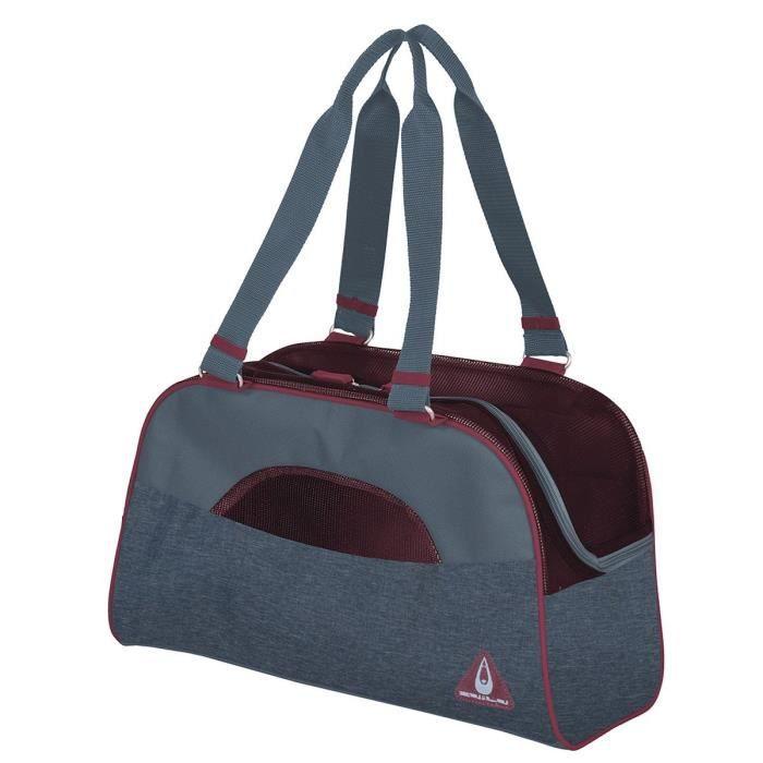 DUVO+ Sac de transport Paris Pet Bag Casual - Bleu - 44 x 18,5 x 25,5 cm - 0,58 kg - Pour chien