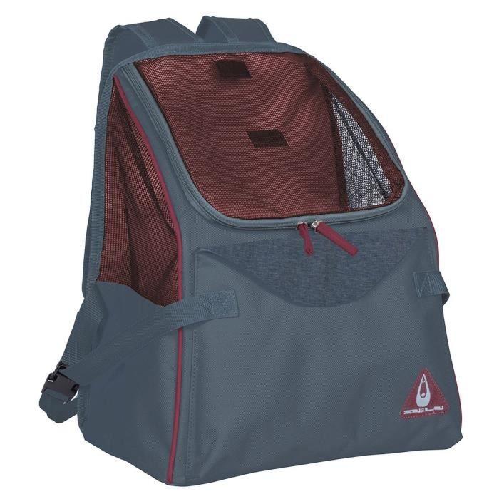 DUVO+ Sac de transport Paris Backpack - Bleu 34 x 21 x 39,5 cm - 0,6 kg - Pour chien