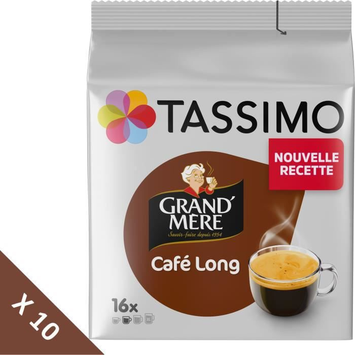 Lot de 10 - Tassimo Grand'Mère Café Long - 16 dosettes - 107 g