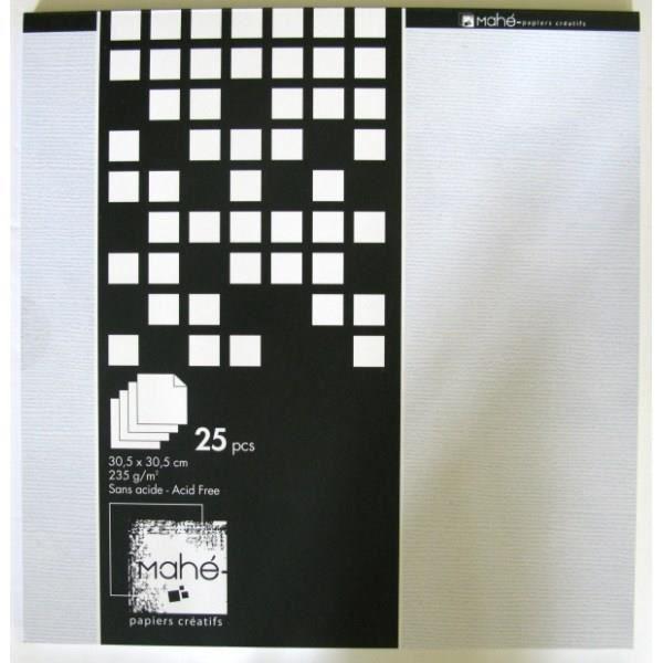TOGA Bloc Mahé Blanc 30*30 cm 25 Pages