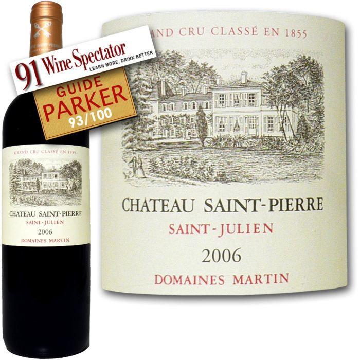 Château Saint Pierre 2006 Saint-Julien - Vin rouge de Bordeaux
