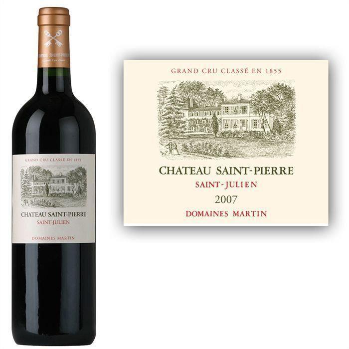 Château Saint-Pierre 2007 Saint-Julien Grand Cru - Vin rouge de Bordeaux