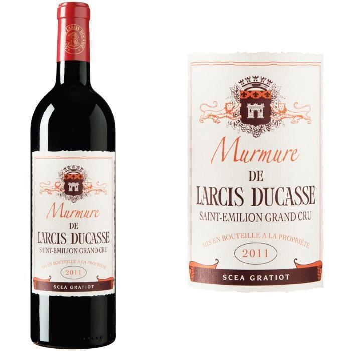 Murmure de Larcis Ducasse 2011 Saint-Emilion Grand Cru - Vin rouge de Bordeaux