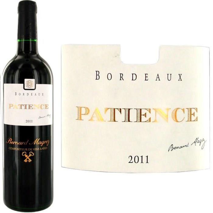 Patience 2011 Bordeaux Bernard Magrez - Vin rouge de Bordeaux