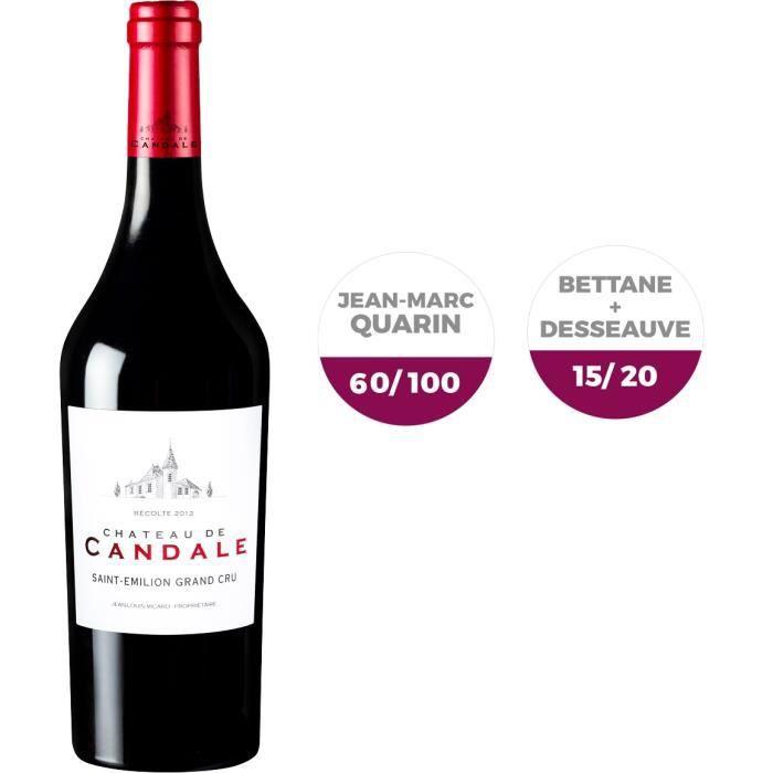 Château de Candale 2012 Saint Emilion Grand Cru - Vin rouge de Bordeaux