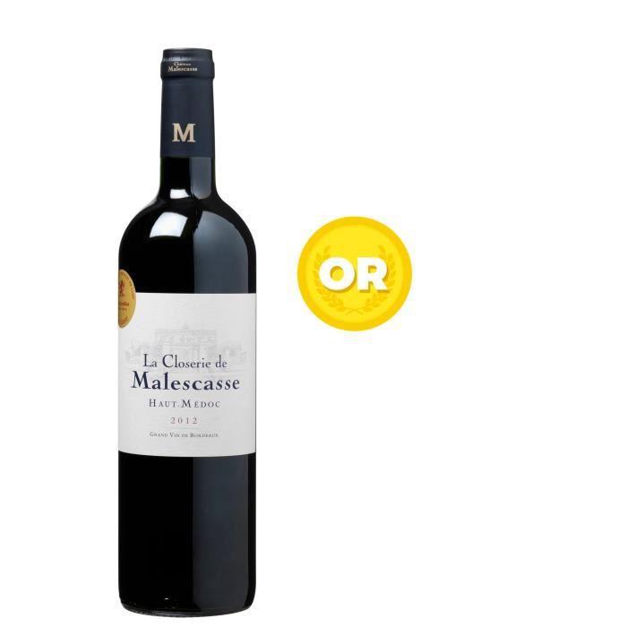 LA CLOSERIE DE MALESCASSE 2012 Haut Médoc Vin de Bordeaux - Rouge - 75 cl