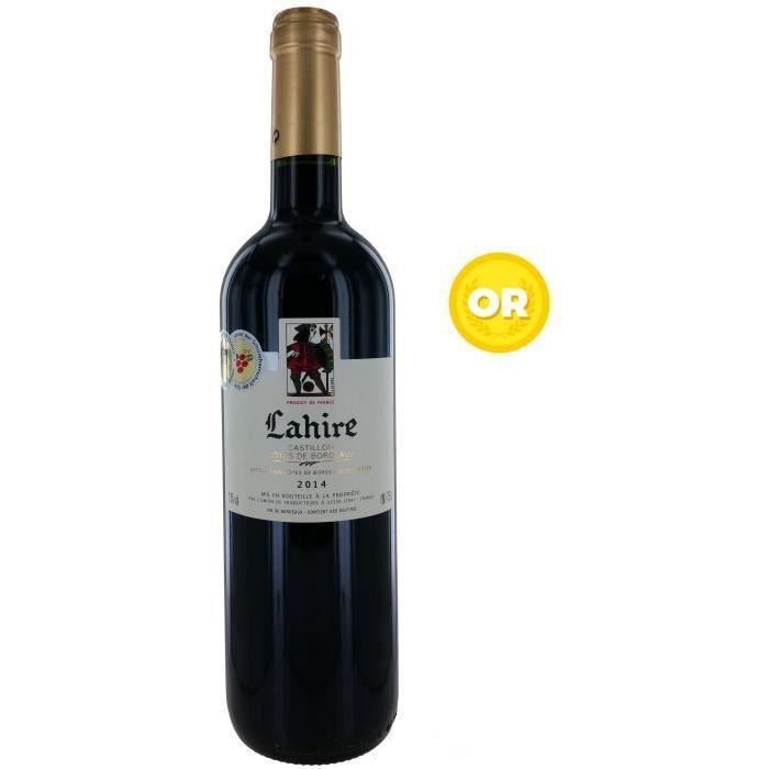 Lahire 2014 Castillon Côtes de Bordeaux - Vin Rouge - 75 cl