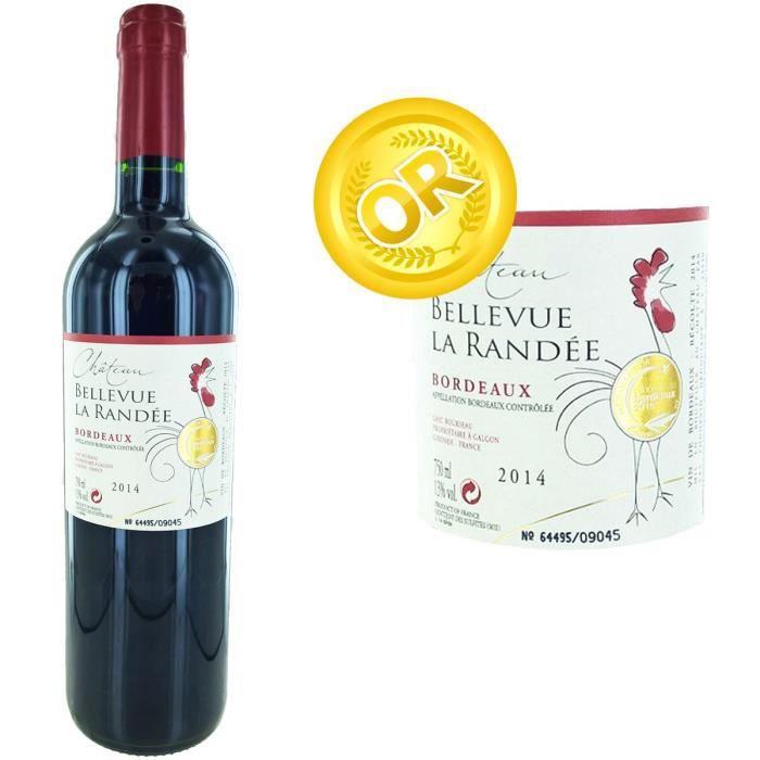 Château Bellevue La Randée 2014 Bordeaux Grand Vin - Vin rouge de Bordeaux