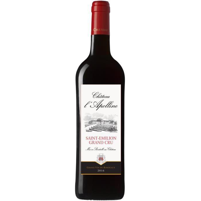 Château L'Apolline 2016 Saint-Emilion Grand Cru - Vin rouge de Bordeaux