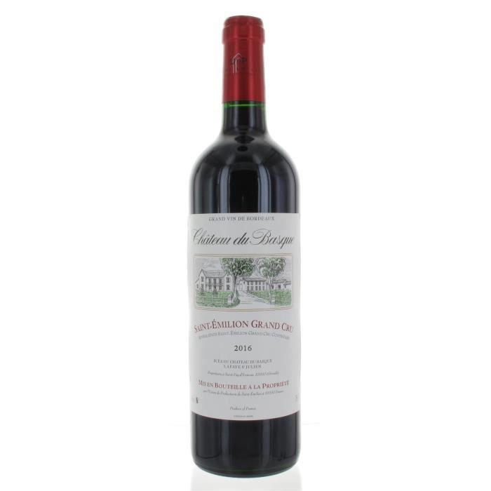 Château du Basque 2016 Saint-Emilion Grand Cru - Vin rouge de Bordeaux