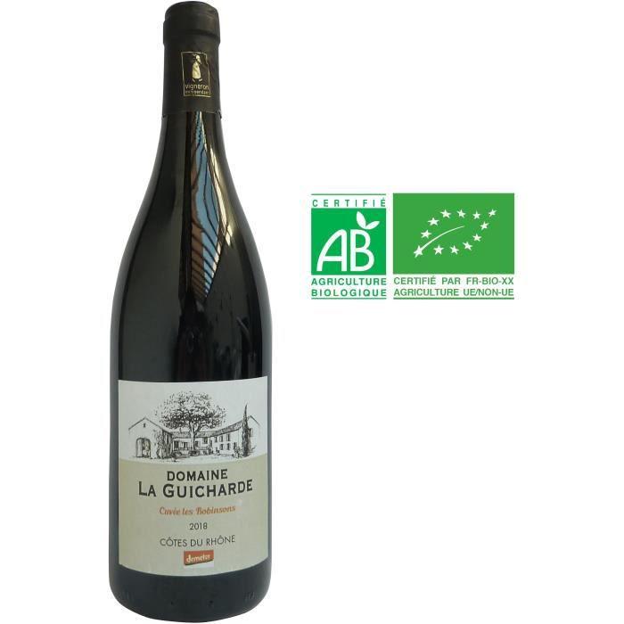 Domaine la Guicharde Cuvée Les Robinsons 2018 Côtes-du-Rhône - Vin rouge de la Vallée du Rhône - Bio